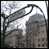 The famous Metropolitan signs in Paris
