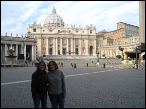 Kim and Ashley at Vatican City